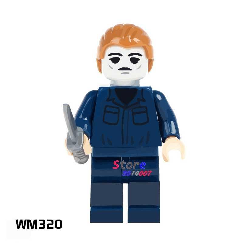 Myers 1PCS blocos de construção do modelo de ação super-heróis séries partido clássico kit diy brinquedos para presente de crianças