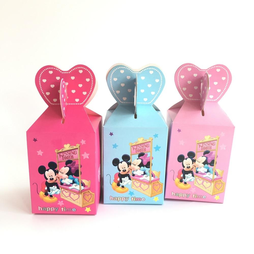 ღ Ƹ̵̡Ӝ̵̨̄Ʒ ღCajas del favor de la boda 100 unids Mickey Minnie ...