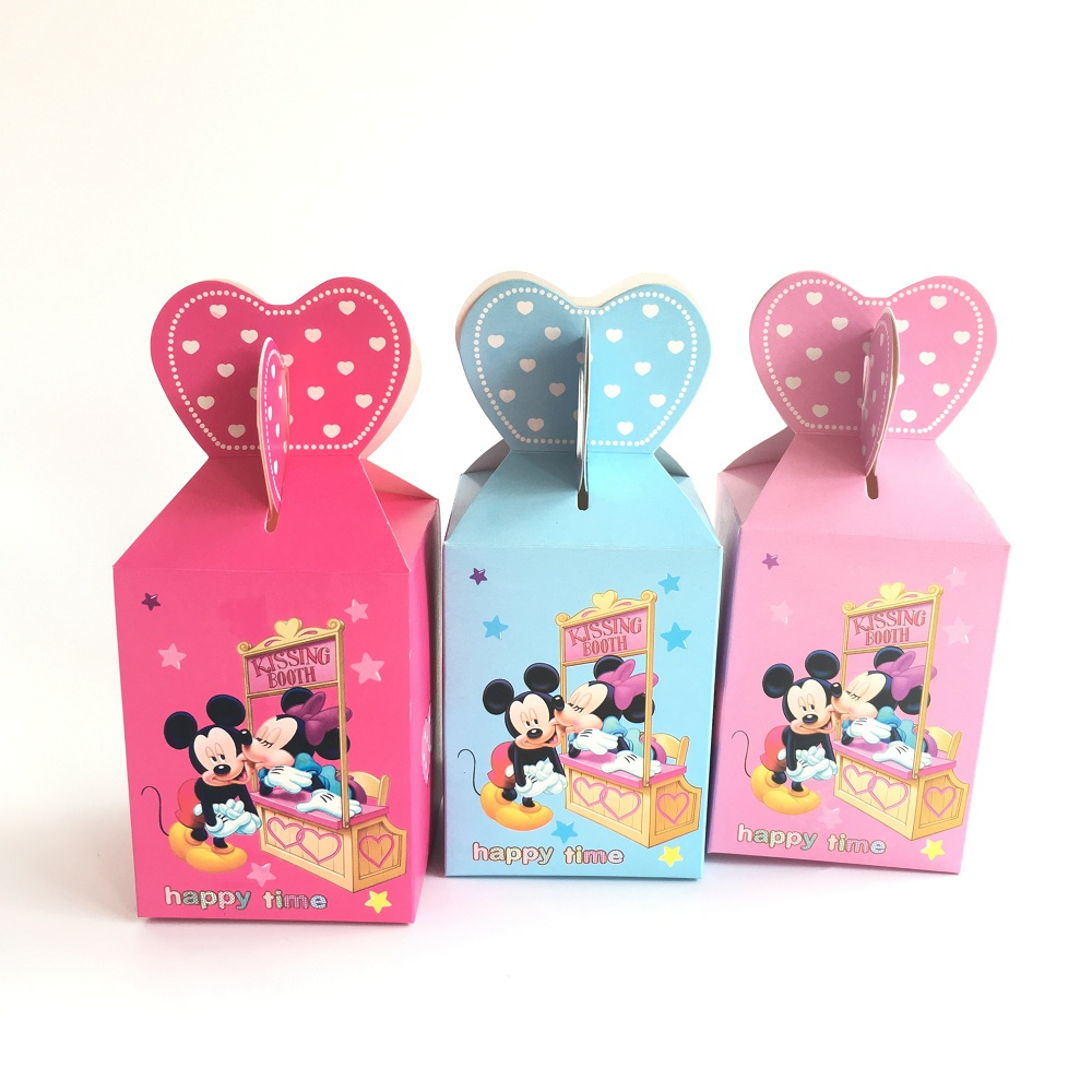 ᑐWedding Favor Boxes 100 pcs Mickey Minnie Birthday Party ...