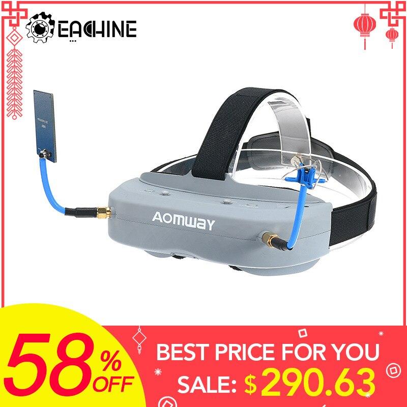 Aomway командир очки V1 2D 3D 40CH 5,8G FPV видео гарнитура Поддержка/с DVR Headtracker
