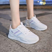 Fashion Flying Knit Platform Women Sneakers Lace Up Breathable Low Top Casual Shoes Sport Women Trainers Chunky Sneakers XU031 lace up low top velvet trainers