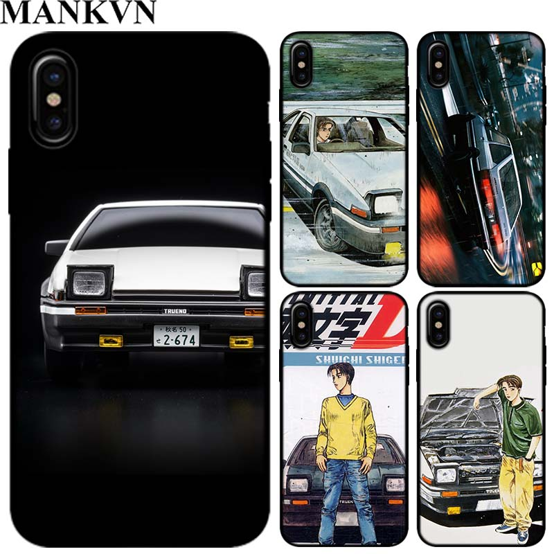 Initial D Takumi 86 Soft TPU Silicone Black Cases For