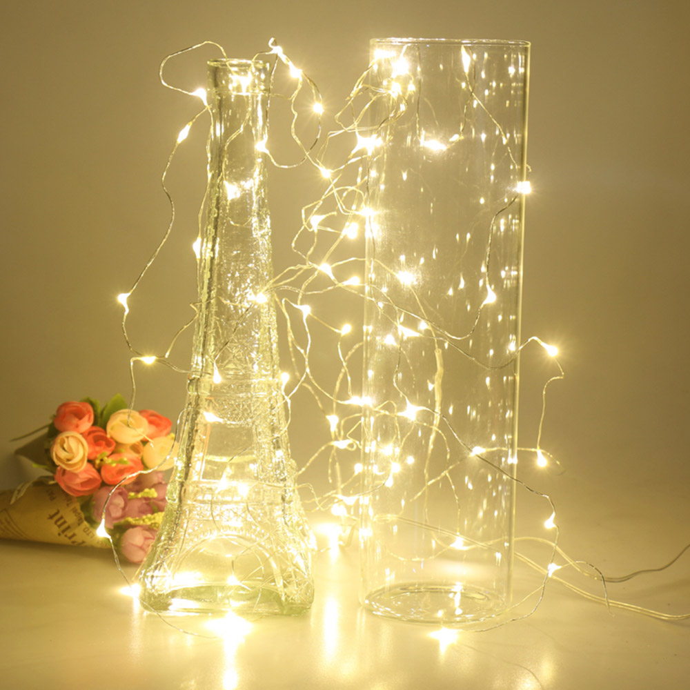 ANBLUB 10M 5M 2M Copper Silver Wire LED String lights New Year ...