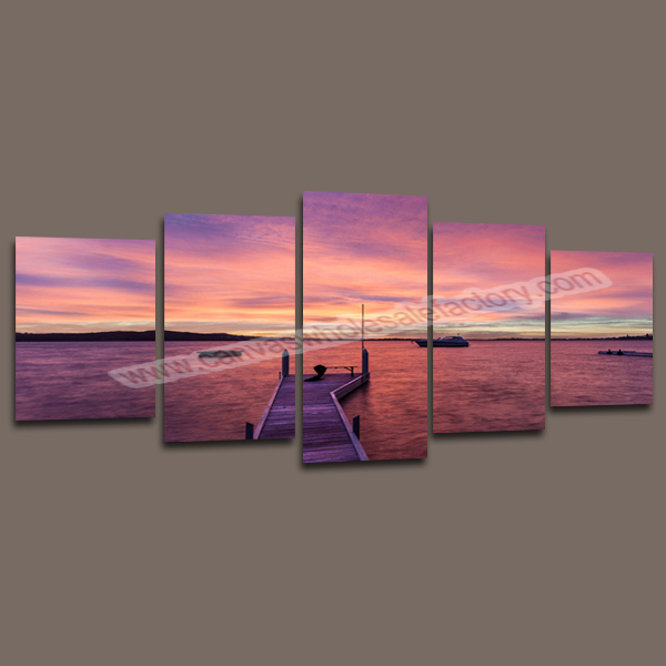 Large 5 Piece Canvas Art Wall Decor Canvas Of Seascape Painting Wall  Hanging Canvas Prints Picture