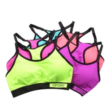 Fashion Women Bra Wireless Adjustable Straps Detachable Pads Top Stretchy Fitness Bra