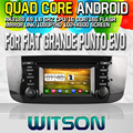 WITSON S160 CAR DVD for  FIAT GRANDE PUNTO EVO 2009-2012 STEREO  Quad Core Android 4.4.4 capacitive Screen+16G Flash+DVR/WIFI/3G