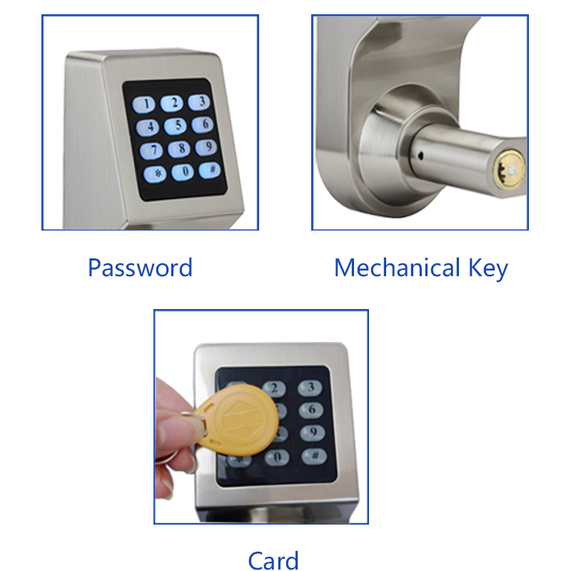 Image 3 - LACHCO Keyless Digital Lock Keypad Password Code Spring Bolt Access Electronic Door Locks L16086BS-in Electric Lock from Security & Protection