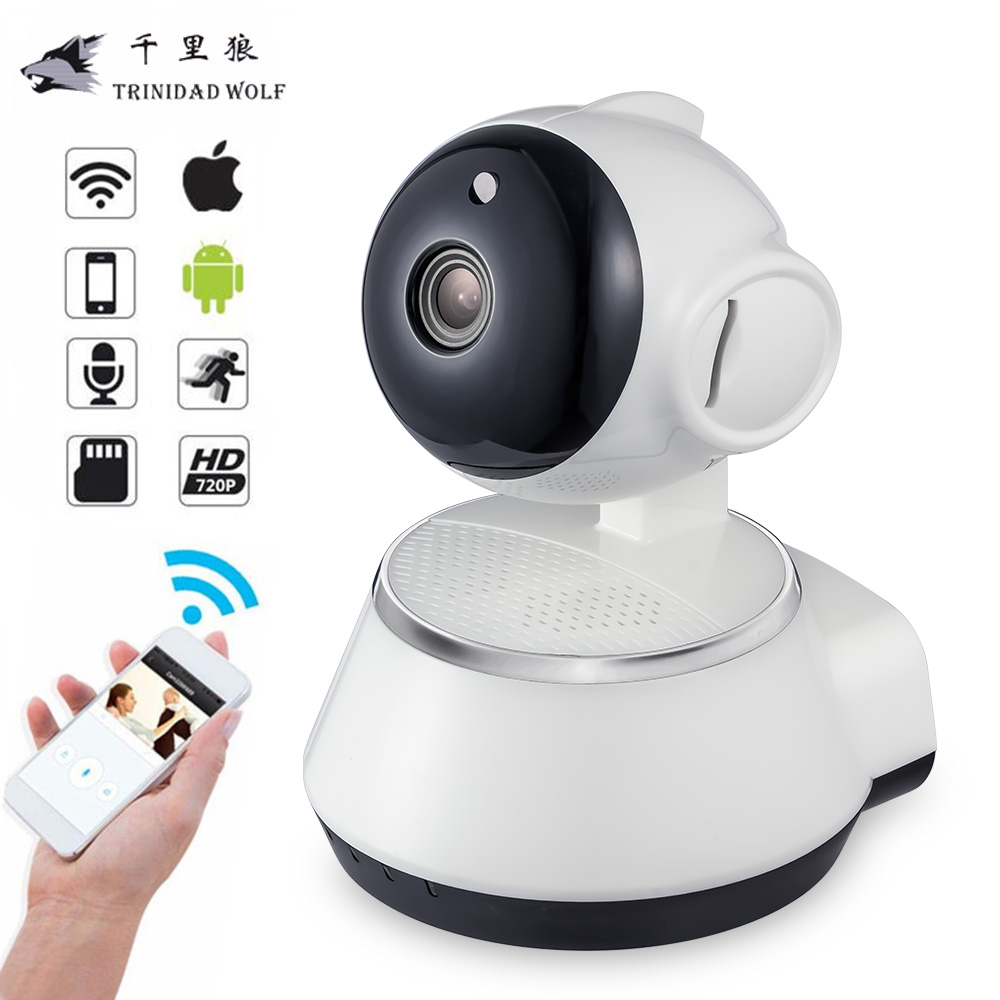 TRINIDAD WOLF HD 720P Mini IP Camera CCTV Indoor Wireless Wifi P2P Security Surveillance Camera Night Vision IR Baby Monitor howell wireless security hd 960p wifi ip camera p2p pan tilt motion detection video baby monitor 2 way audio and ir night vision
