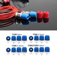 40 pcs/20 pair. insulation foam tips for in-ear earphone headset earphones enhanced bass Ear Pads T100 T200 T300/T400 ( S M L )