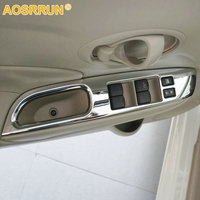For Nissan Versa Sedan Hatchback Note SR 2014 2015 ABS Chrome Window Lifter Control Unit Cover