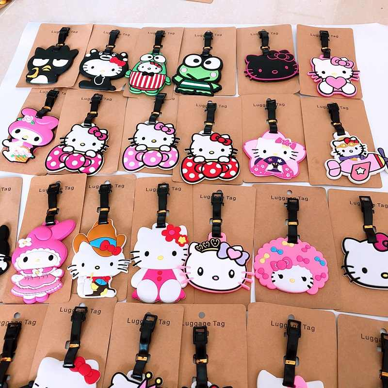 New Bonito Olá kitty Silicone Tag Tags ID Caso Titular XW-1080