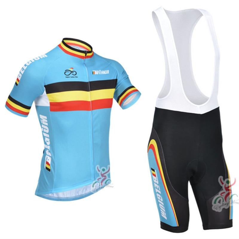 Belgium Cycling Jersey Short Sleeve Kit Men Bicycle Racing Cycle Clothes Maillot Ciclismo Mtb Bike Cycling Clothing Sets #XT-087