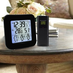 Image 3 - Digital Weather Station with Thermometer and Hygrometer, with 3 Indoor/ Outdoor Wireless Sensors for Temperature and Humidity