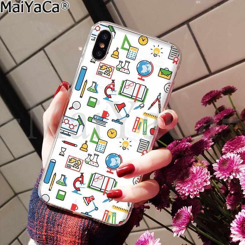 MaiYaCa الكيمياء الشخبطة على الأبيض نمط TPU لينة هاتف محمول الهاتف حقيبة لهاتف أي فون X XS ماكس 6 6s 7 7 زائد 8 8 زائد 5 5S SE XR