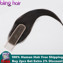 Bling Hair 2*6 Brazilian Straight Hair Closure with Baby Hair Middle P