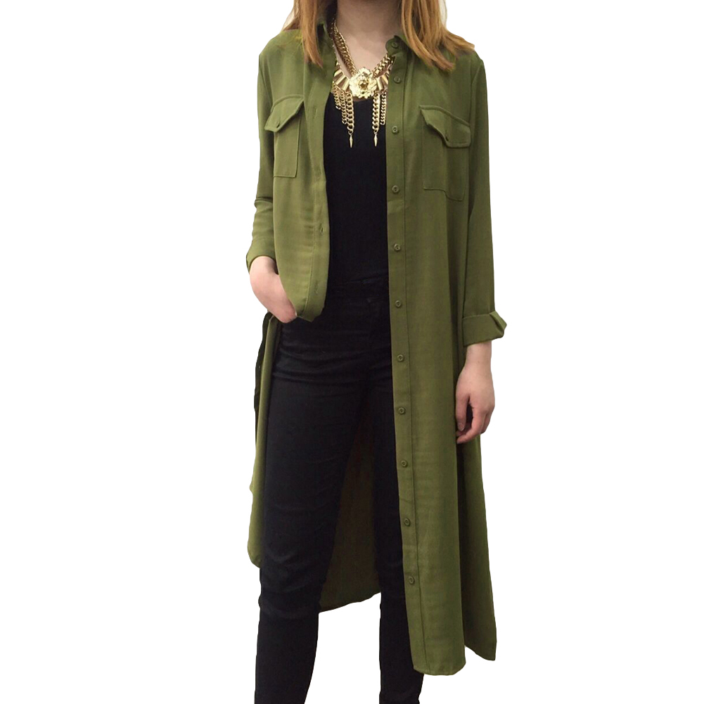 New autumn winter women shirt dress turn down collar long Women s long sleeve shirt dress