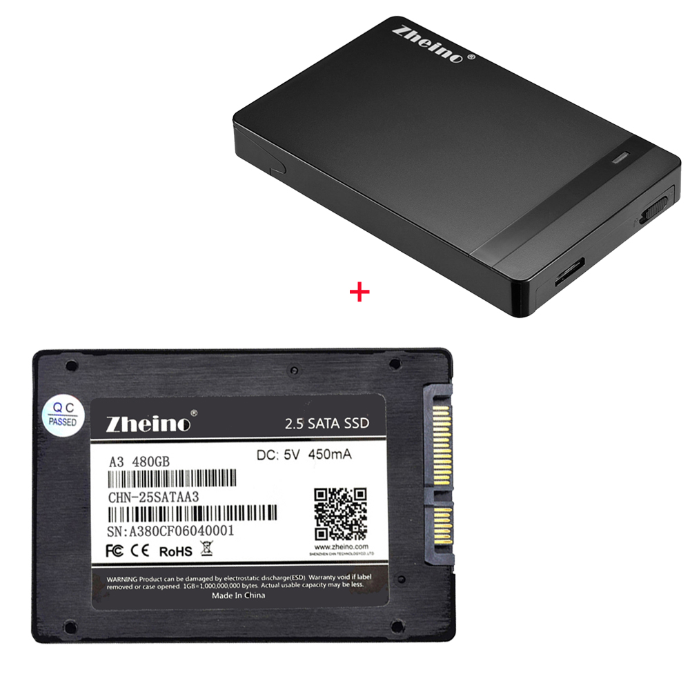 Zheino P1 USB3.0 internal 480GB SSD with 2.5 SATA Solid State Drive Portable SSD External Hard Drive Disk Mobile SSD