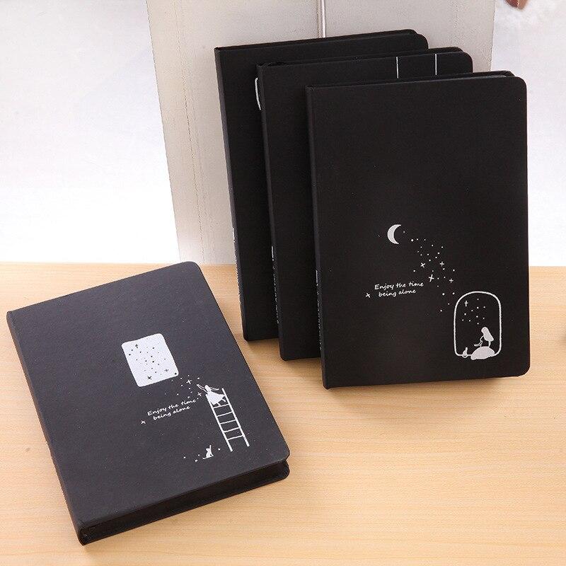 2019 nouvelle étoile Album livre commémoratif bloc-notes blanc carton noir Page intérieure journal livre Album bricolage cahier noir