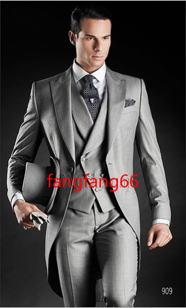 Aliexpress.com : Buy New Arrival Gray Three Piece Gray Wedding ...