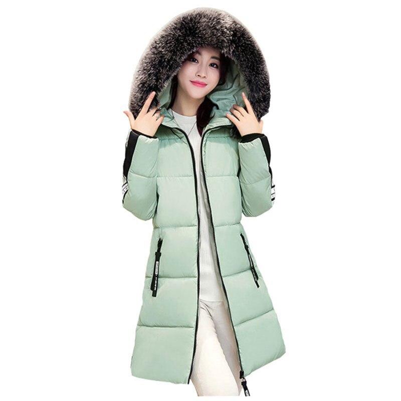 Plus Size 3XL Hooded Female Parka Winter Jacket Women 2017 Long Coat Faux Fur Collar Outwear Cotton Coats Female Jackets RE0047