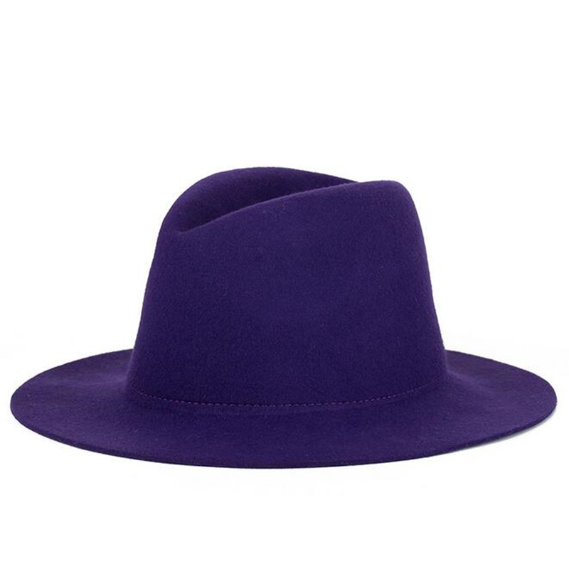 Unisex Fashion Fedora Hat Snap Brim Hat Trilby Vintage Cloche Jazz Cap