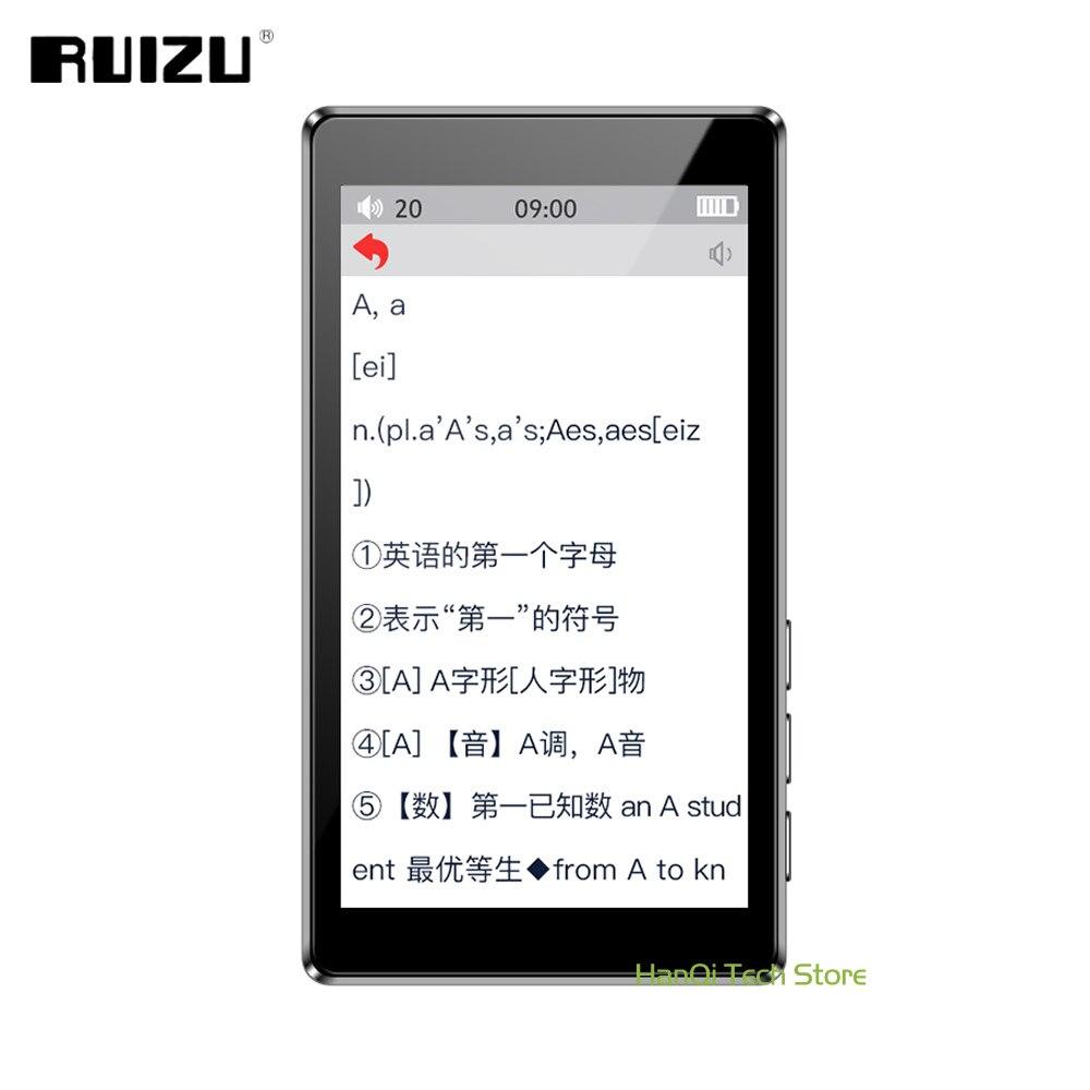 Nouveau RUIZU D20 lecteur MP3 plein écran tactile lecteur de musique 8 GB Support FM Radio enregistrement lecteur vidéo E-book avec haut-parleur intégré - 3