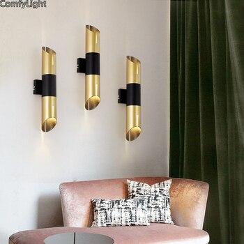 간단한 현대 led 벽 램프 철 sconce 벽 조명 침실 머리맡 화장실 홈 장식 e37 벽 램프 실내 조명