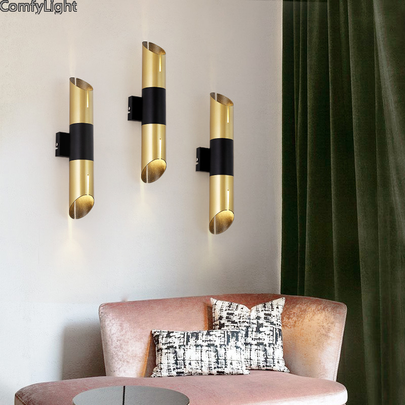 Simple Modern led wall lamp Iron Sconce Wall Lights For Bedroom Bedside washroom Home decoration E37 Wall Lamp Indoor Lighting stylish simple letters pattern wall sticker for bedroom livingroom decoration