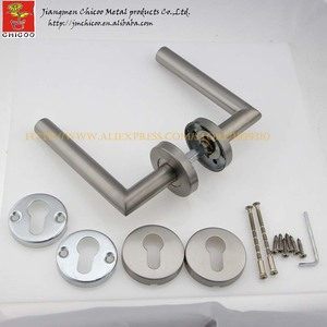 modern stainless steel entry door lever handles,right angle tubehandle,door handle