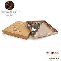 11 Inch Square Baking Pan Cake Non Stick Easy Clean 422g Heavy Carton Steel Metal Cake