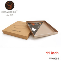 11 Inch Square Baking Pan Cake Non Stick Easy Clean 422g Heavy Carton Steel Metal Cake