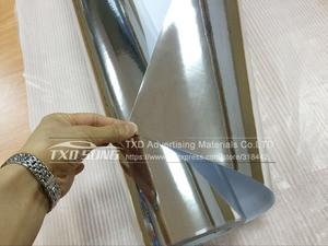 Image 2 - 50CM*100CM TO 500CM High stretchable mirror silver Chrome Mirror flexible Vinyl Wrap Sheet Roll Film Car Sticker 10/20CM x152CM