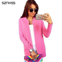 Female Sweaters Cardigans For Women Knitted Sweater Jacket Coat 2017 Autumn Lady S Long Sleeve Casual