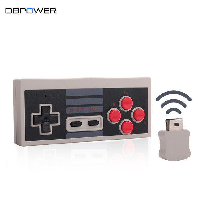 DBPOWER Wireless NES Mini Gaming Controller Joystick 2.4GHz for Console Classic Edition Gamepad With Wireless USB Receiver