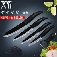 XYj Professional Kitchen Knives Set Ceramic Cooking Knives 3 4 5 6 Inch Paring Utility Slicing