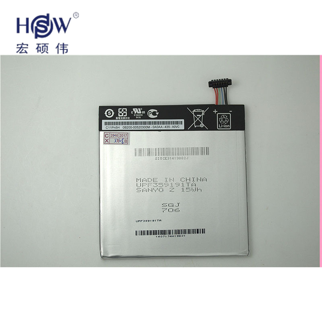 HSW new  3.8V 3950mAh 15Wh C11P1304 Li-polymer battery for Asus Memo Pad Hd 7 Me173x K00 bbateria akku
