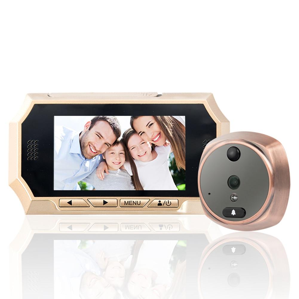 1 комплект 4.3 Сенсорный HD-экран дверь камеры домофон видео глазок,ЖК-цифровой дома безопасности Цвет ИК-камеры двери глаз