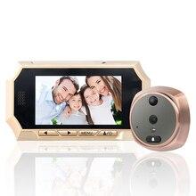 1 компл. 4.3 »HD Сенсорный экран двери Камера, домофон Системы видео глазок, ЖК-дисплей цифровой домашней безопасности Цвет ИК Камера дверь глаз