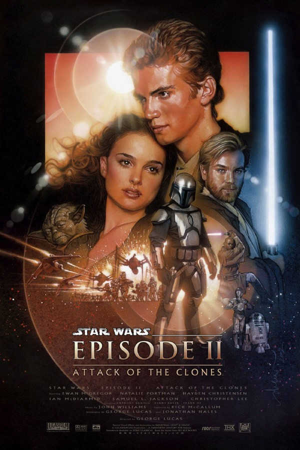 <font><b>Star</b></font> <font><b>Wars</b></font>: <font><b>Episode</b></font> <font><b>II</b></font> - Attack Of The Clones Movie Posters print fabric Silk Print 036-25-2