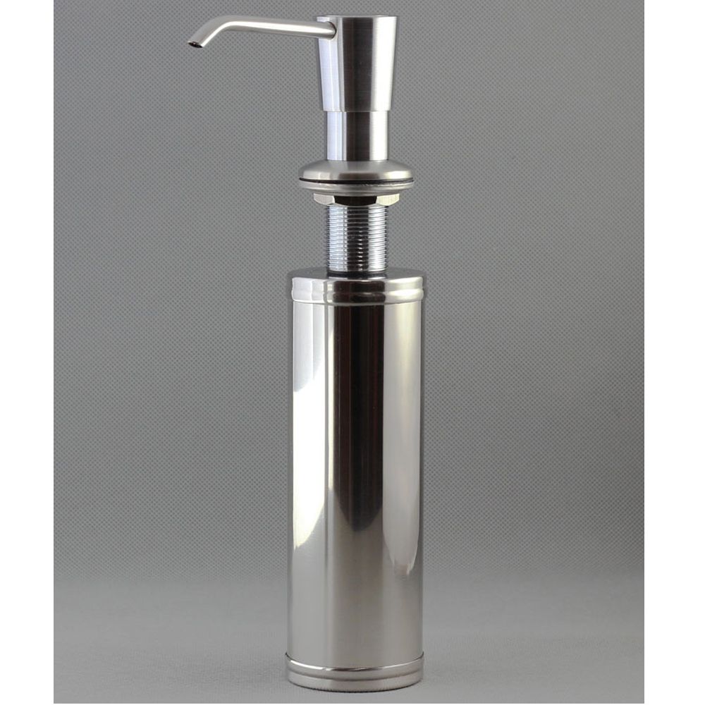 awesome Kitchen Sink Soap Dispenser Replacement Bottle #4: 13 OZ Kitchen Sink Soap Dispenser 304 Stainless Steel Brushed Nickel Hand  Pump and 304 Steel Bottle 3-Year Replacement Warranty