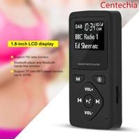 Portable DAB/DAB+ Pocket Digital Radio Receiver Bluetooth MP3 Player with Earphone Support FM radio TF card