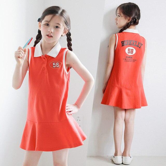 New 2019 Summer Kids Dress for Girls Dress Fashion Children Dress Toddler Casual Dress Baby Sports Dress Cotton Ruffles,#5196