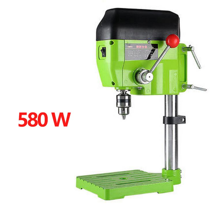Milling Drill Press Bench 580W Stroke 60mm Clamping Range 1.5-13mm 4000rpm High Speed DIY Drilling Mill Machine mini electric drilling machine variable speed micro drill press grinder pearl drilling diy jewelry drill machines 5168e