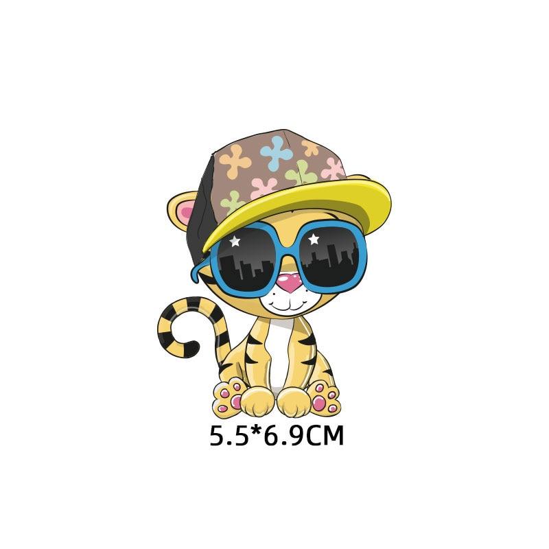 Милые маленькие животные Единорог Сова собака кошка патч для одежды стикер для детей мальчик девочка DIY патчи Футболка теплопередача Винил - Цвет: zt1116
