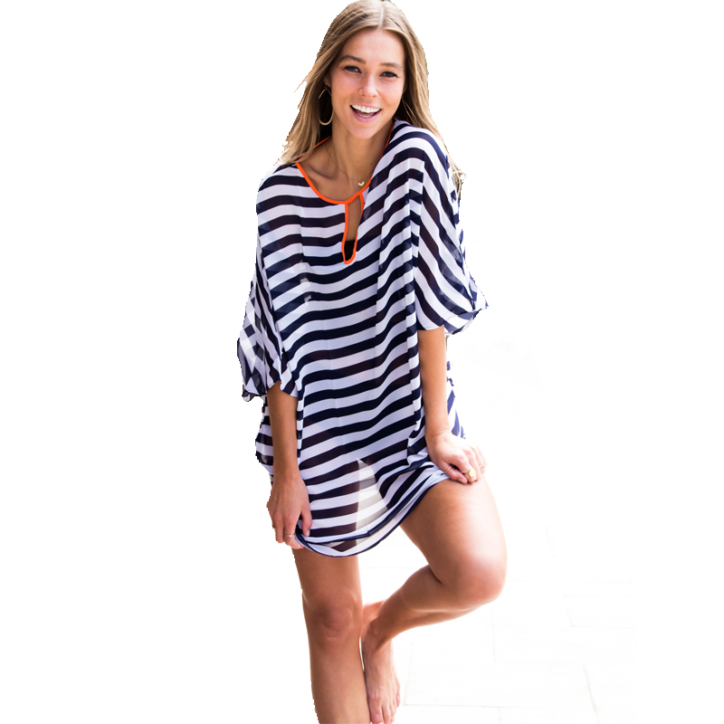 Tooou Striped Beach Womens Swimsuit Coverups Cover Dresses