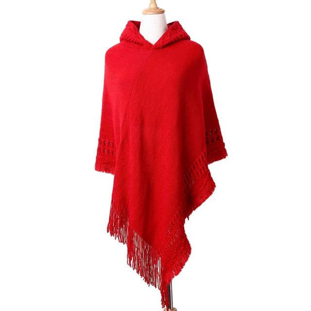 Ladies Tassel Cape Coat Poncho 6