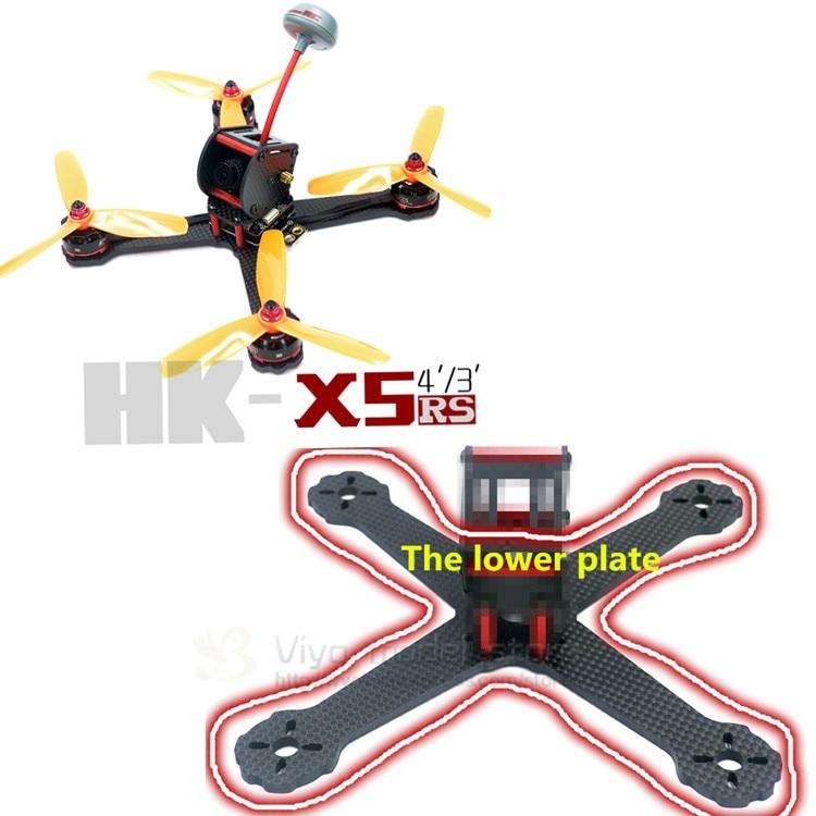 DIY FPV mini racing drone QAV-X5 RS 5 190mm quadcopter 3K pure carbon fiber frame 4mm main plate arms tator rc 3k carbon fiber plate 3 5mm tl2900