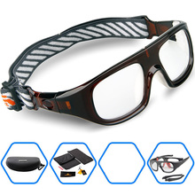 2016 Brand  Protective Sports Eyewear Goggles Basketball Soccer Football Ruby Safety Glasses Myopia lens Eyeglasses