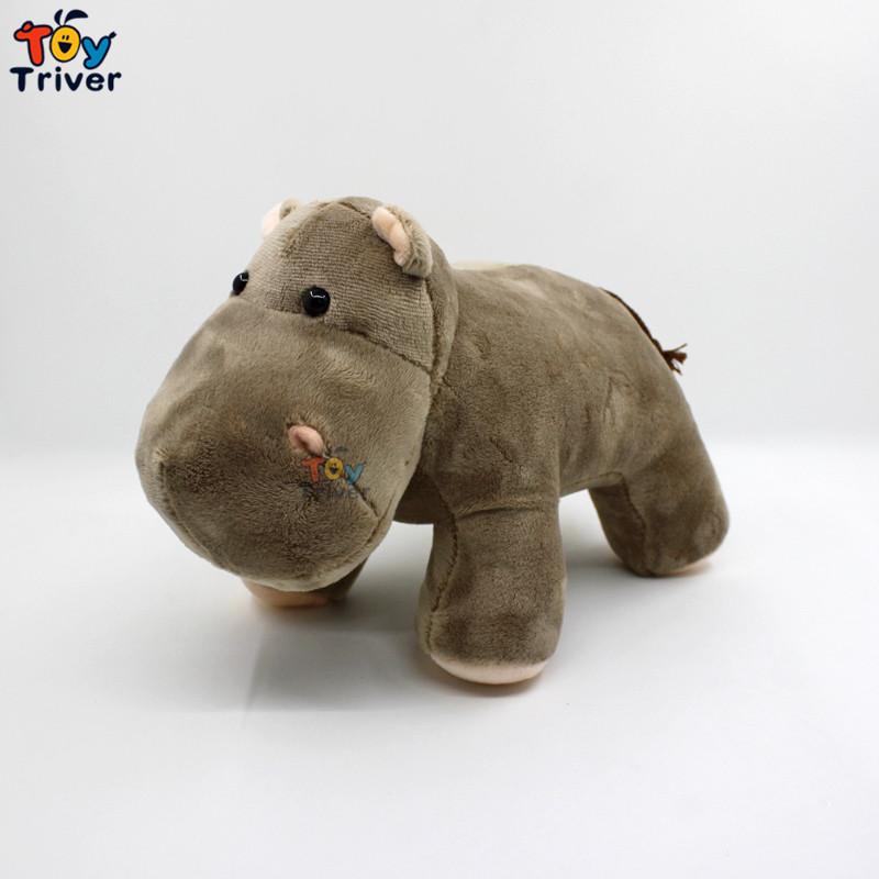 25cm Simulation Soft Plush Rhino Hippo Toy Stuffed Doll Toys Hippos ...