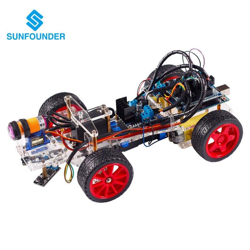 SunFounder Kit de Coche de Control Remoto Inteligente para Arduino uno R3 Diy El
